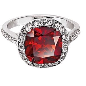 Ruby red ring gemstone ring Size 6 NWT